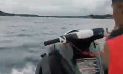 Suspected Getaway Driver With No Arms Shows Off His Driving Skills On Jet Ski After Release On Bail
