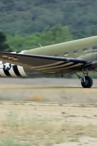 Aircraft From WWII Makes Landing At Fort Hunter Liggett Army Base