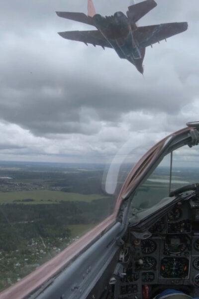 Russian Air Force Aerobatic Team Mark 30th Anniversary With Impressive Stunts