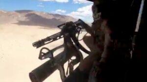 Marines Simulate Combat With Powerful M134 Minigun In California