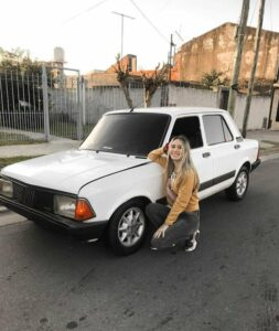 Read more about the article Trolls Target Young Woman For Proudly Posting Pic Of Her First Car Online, An Old Fiat 128