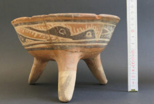 Two Germans Return 34 Pre-Columbian Artifacts Including A Mayan Clay Bowl To Mexican Embassy