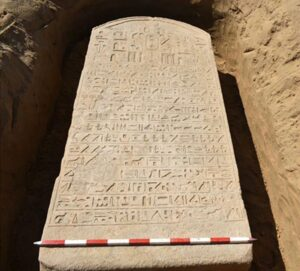 Egyptian Farmer Finds 2,500 Year Old Hieroglyphic Covered Stone Buried On His Land