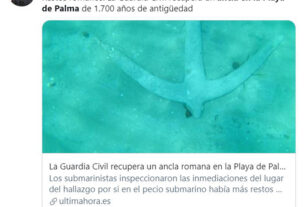 Spanish Officials Offer To Buy A Cup Of Coffee As A Thank You For Man Who Found Roman Anchor On Seabed