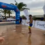 Athlete Pipped To Triathlon Finish Line For Doing Silly Celebration Too Early