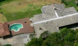 Giant Swastika On Bottom Of Private Swimming Pool At Brazilian Mansion Is Covered Up After Probe