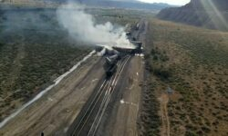 Train Derails In New Mexico And Catches Fire Causing Homes To Be Evacuated