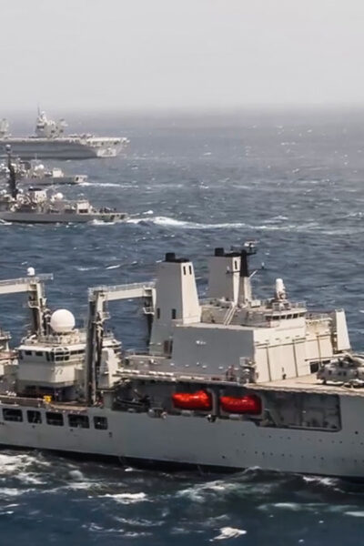 Royal Navy Unleashes HMS Queen Elizabeth During War Games With Indian Navy