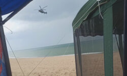 Helicopter Of Rich Businessmen Destroys Campsite On Beach